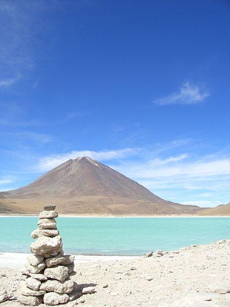 Laguna Verde with Licancabur volcano in the background. Bolivia.