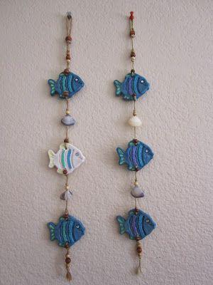 Salt Dough Wall Hangings, Fish with Shells – #doug…