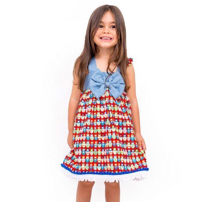 Matrioskas Dress #matrioskas #dress #available #lavaninne #baby #babyshop #girl #girldress