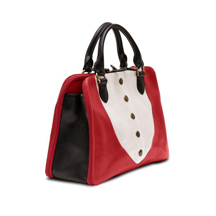 Heart Handbag Red-White-Black