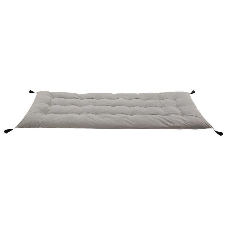 Gaddiposh-Matratze aus Baumwolle, 90x 190cm, grau
