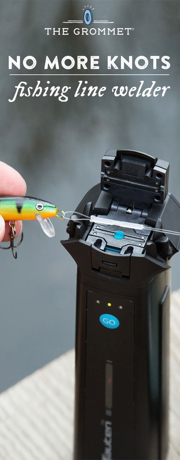 Yield a virtually indestructible fishing knot without actually tying one. This fishing line welder attaches the line to the hook, securely, in 30 seconds. Great fishing gift.