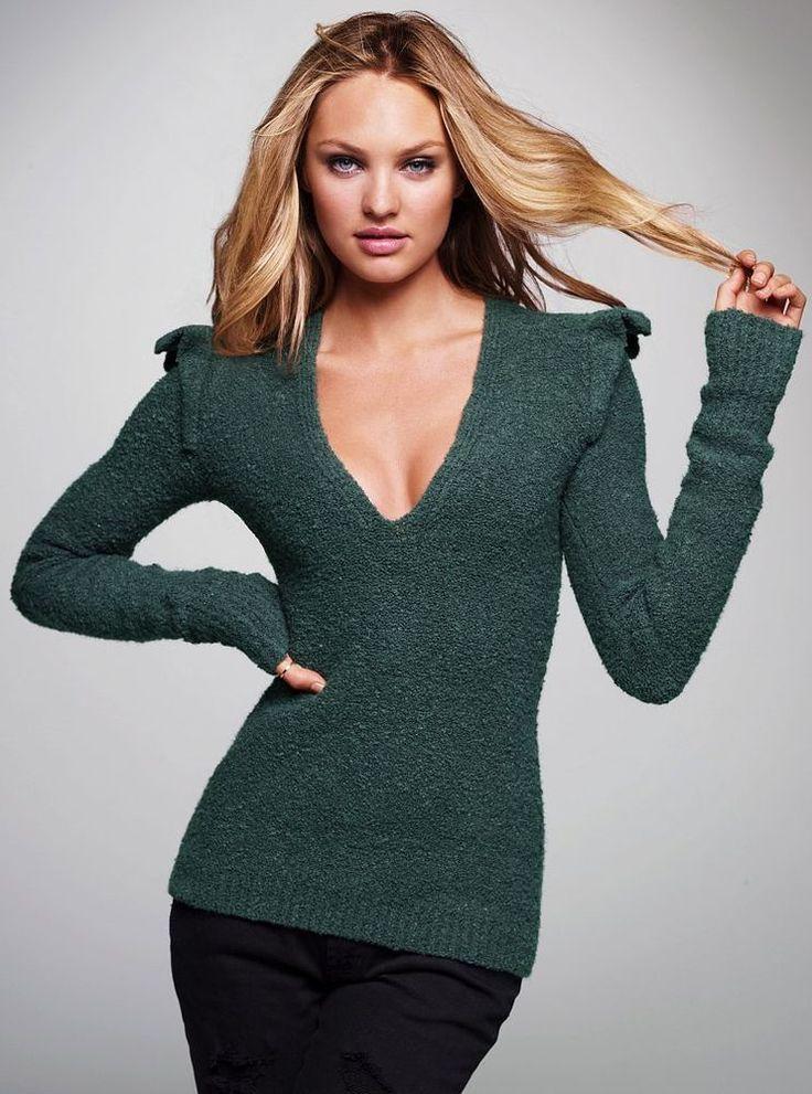VICTORIA'S SECRET / Moda International boucle green jumper size XS