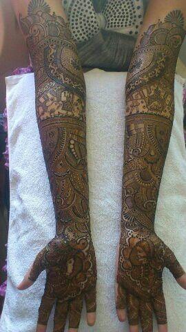 My bridal mahendi design...