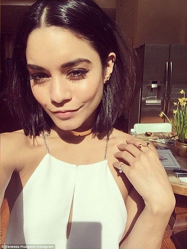 Blunt bob! Vanessa Hudgens shared this picture of her new short locks on Wednesday