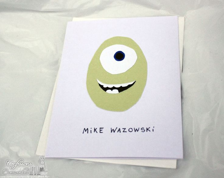 Monsters University Crafts: Note Cards
