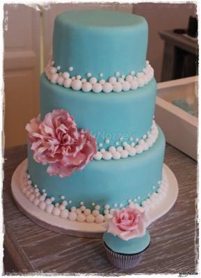 Torta nuziale #blu #tiffany