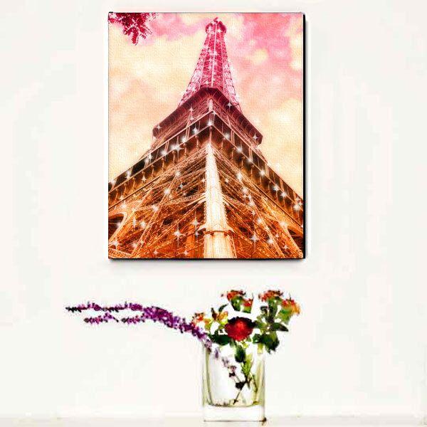Eiffel Tower Canvas Wall Art, Pink Paris Canvas Art Print, Starry Lights, Pink Paris Wall Art, Home Decor, GIft Idea by LafayettePlace on Etsy https://www.etsy.com/listing/159651282/eiffel-tower-canvas-wall-art-pink-paris