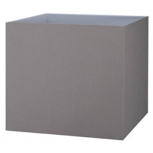 Abat-jour carré gris taupe