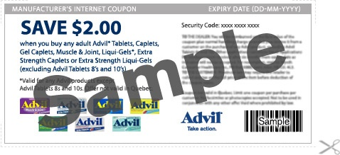 Advil Printable Coupon~Save $2 Off Select Advil Products(Coupons Canada)