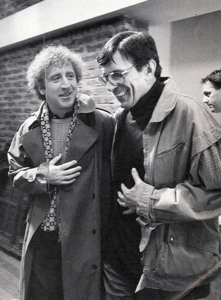 Gene Wilder and Leonard Nimoy | Rare celebrity photos
