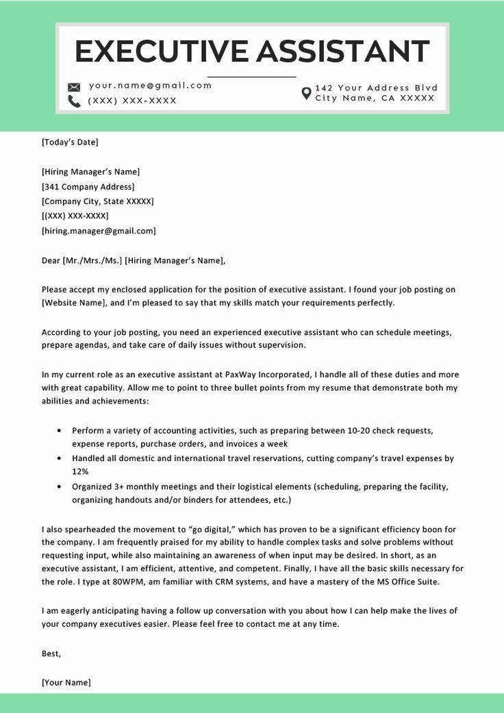 Administrative assistant cover letter template unique