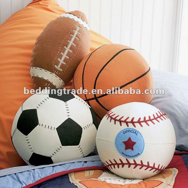 Béisbol de béisbol cojín almohada baby balancín sala de niños& bebé vivero piso almohada, habitación de los niños decorativos almohada de felpa