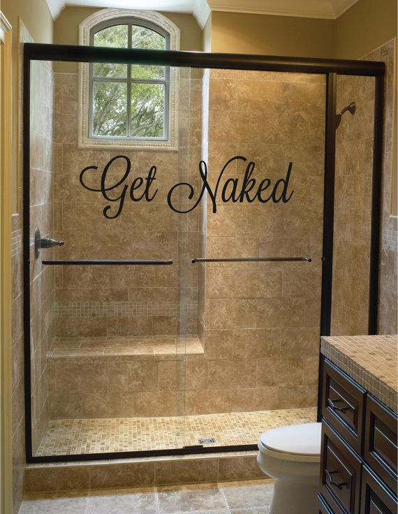 Get Naked Bathroom Wall Decal Shower Door Decal By