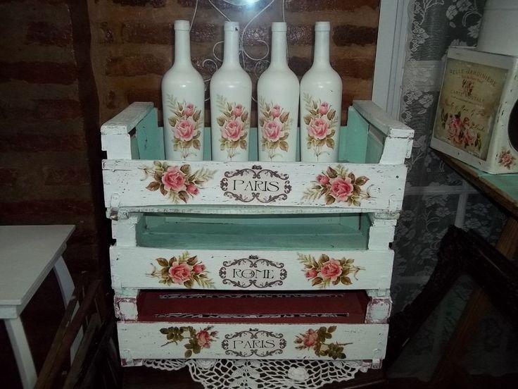 Cajones Shabby Chic Antiguos Intervenidos Decape Vintage - $ 220,00 en MercadoLibre