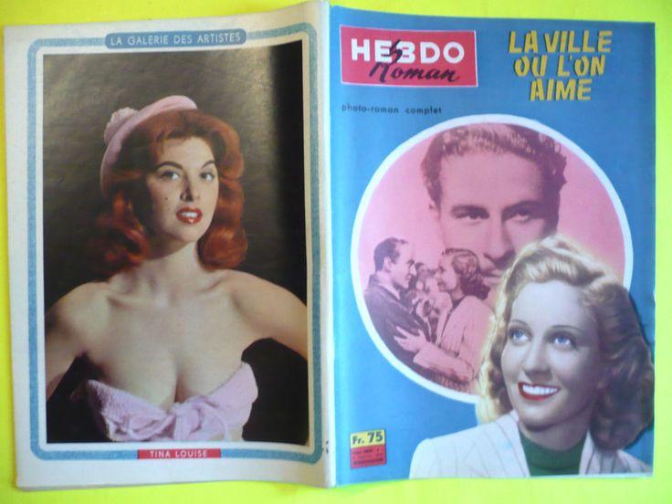 1959  HEBDO ROMAN   PHOTOROMAN FILM,ROMAN-PHOTO    Ciné-film authentique