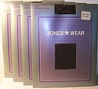 NEW JONES WEAR Pantyhose Lycra Sheer Sz Small/Medium Off Black Spandex NIP