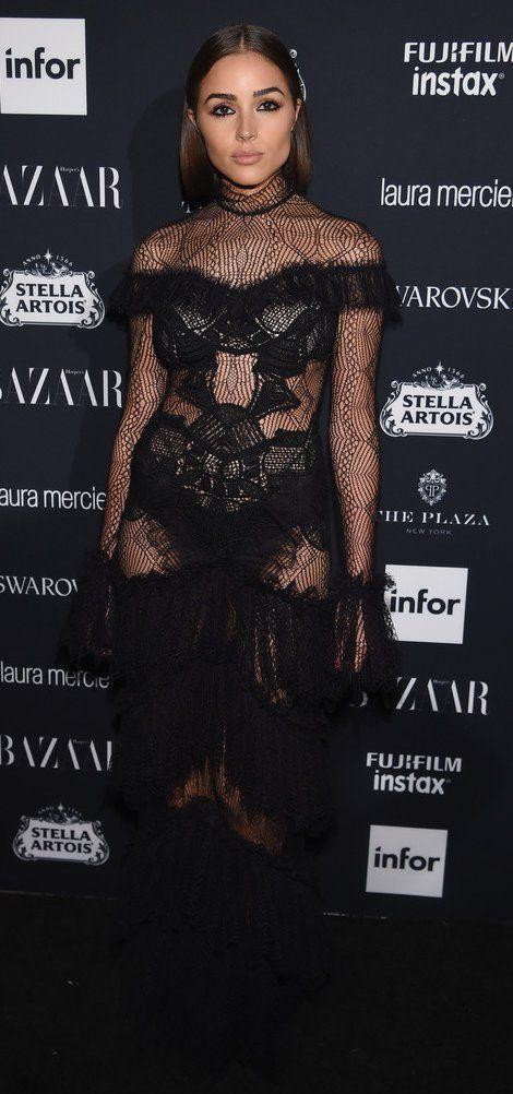 "Oliva Culpo in Jonathan Simkhai attends Harper's BAZAAR Celebration of ""ICONS By Carine Roitfeld"". #bestdressed"