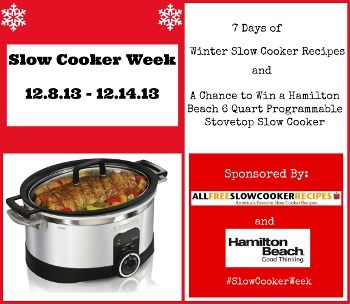 Hamilton Beach Slow Cooker Week Giveaway