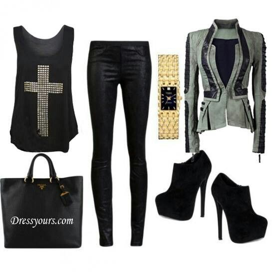 Glam rock outfit for fall gig outfit pinterest glam for Rockabilly outfit damen