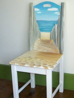 ~*~What an adorable chair...wish I knew how to paint~*~: Remodel Projects, Paint Ideas, Design Ideas, Gift Ideas, Diy House, Decorating Ideas, Beach Bathroom, House Idea
