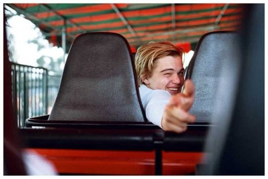 Leonardo DiCaprio photographed by his friend, actress Sara Gilbert, in Mexico, 1995.