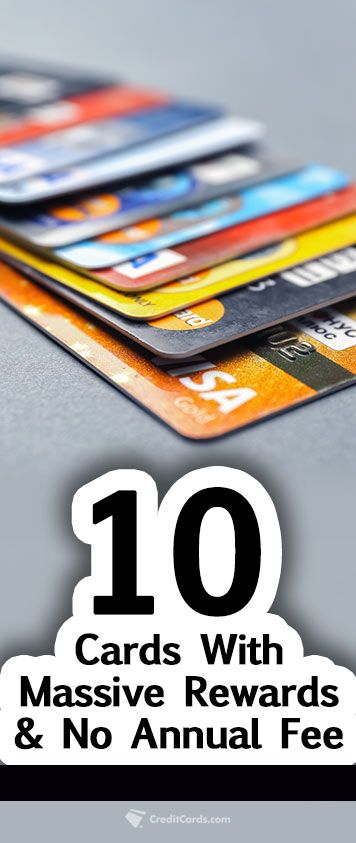 If you're looking for a rewarding credit card but refuse to pay an annual fee then look no further. CreditCards.com has all the info you need on 10 cards that offer masssive rewards without the annual fee.
