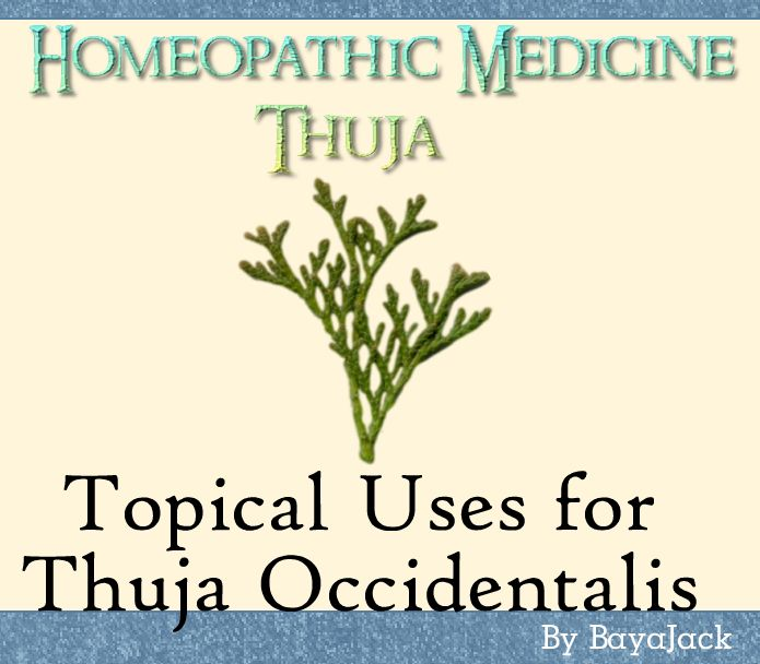 Topical Uses for Thuja Homeopathic Medicine for +Health +Warts +Acne +Eczema +Osteoarthritis +Psoriasis +Rashes +Skin Tags