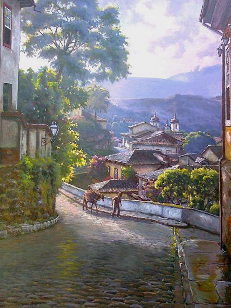 WILSON VICENTE - Manhã em Ouro Preto - 70 x 50