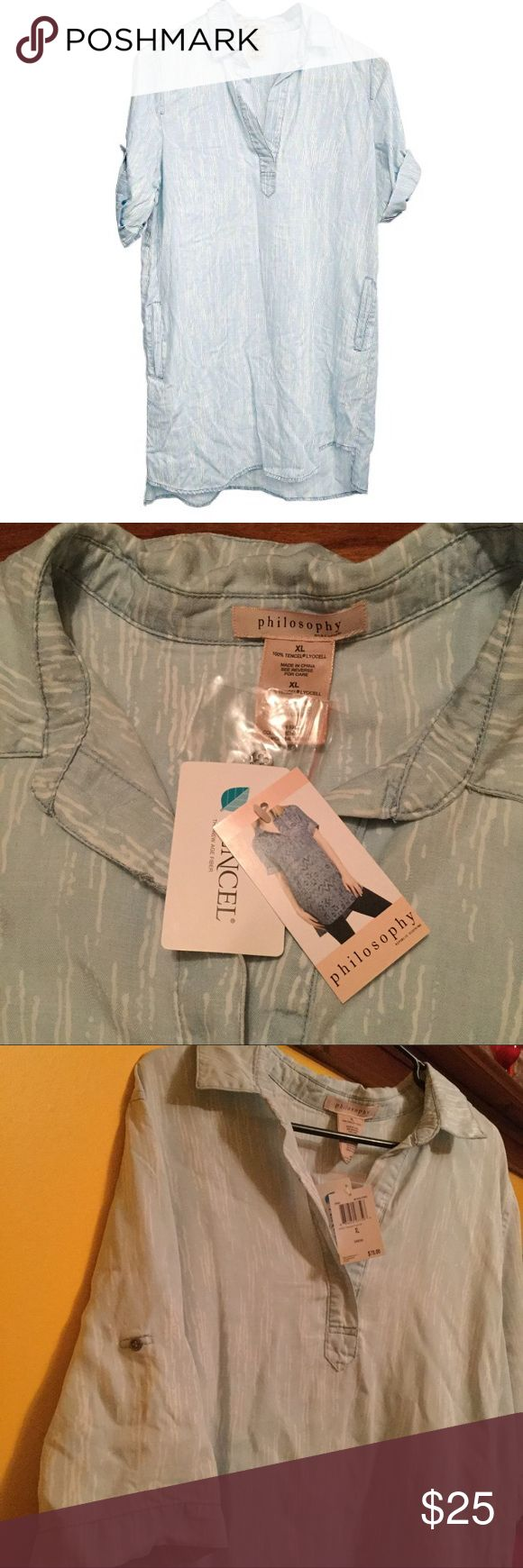 Philosophy Dress XL Meteor Stripe New with tags Philosophy shirt dress XL New with tags retail $78. Philosophy Dresses Midi