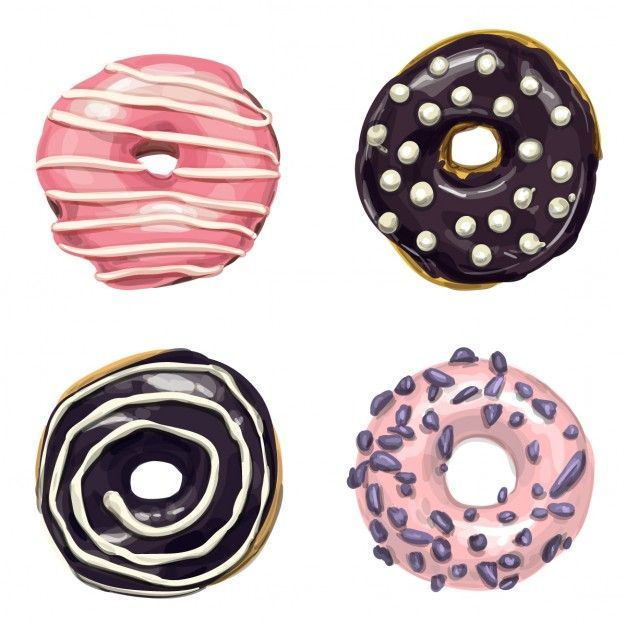 Free Vector Sweet Donuts