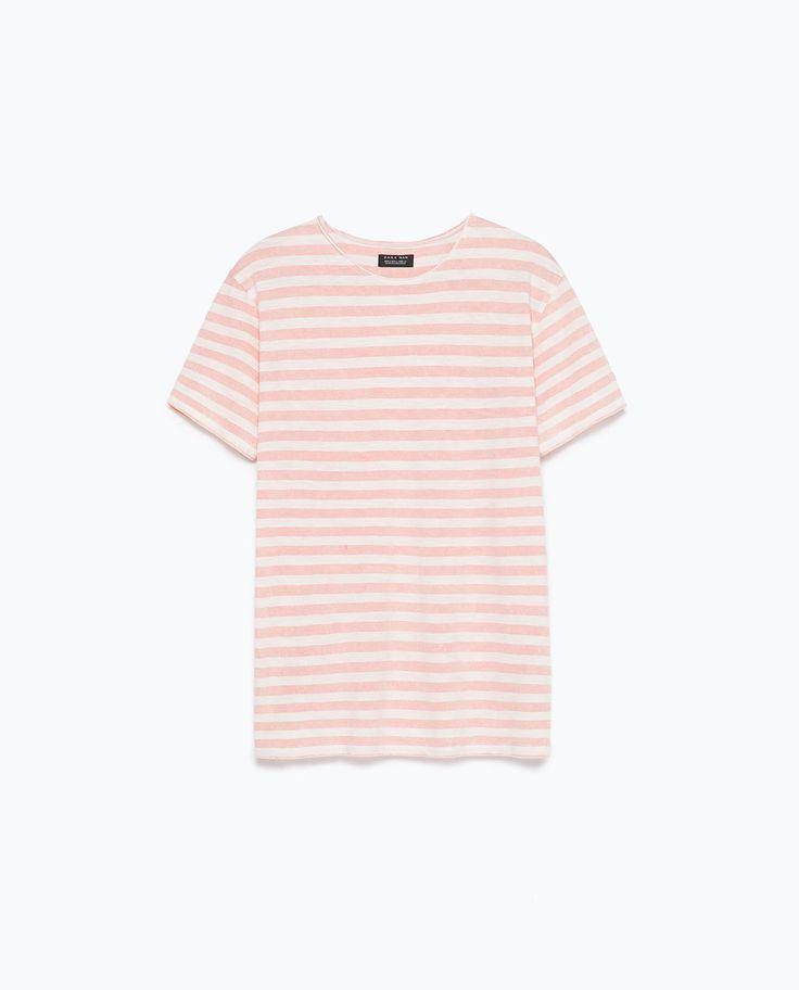 ストライプTシャツ-すべてを見る-Tシャツ-メンズ | ZARA 日本