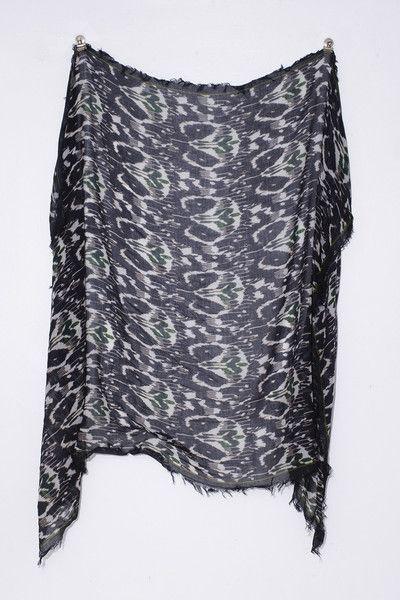 Black Printed Garson Shawl by Isabel Marant | shopheist.com