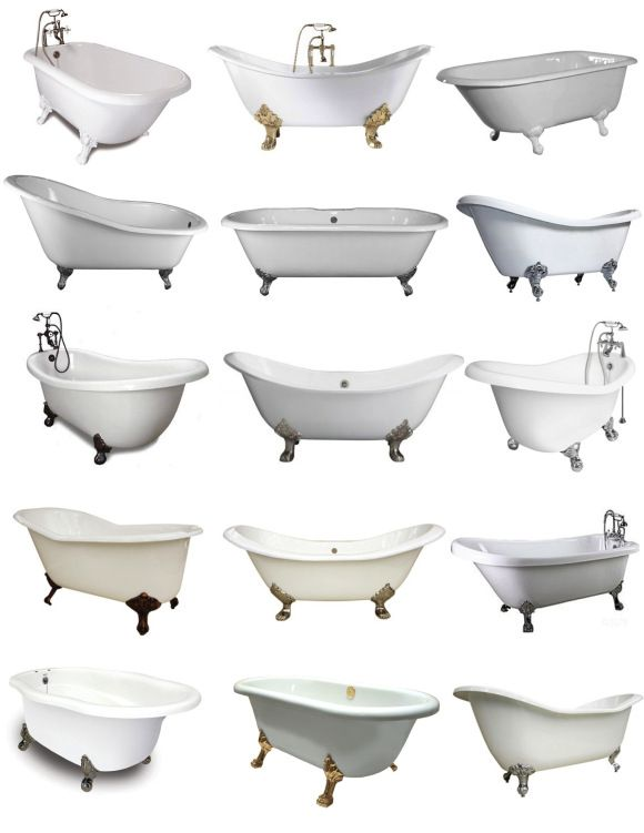 Clawfoot tub styles