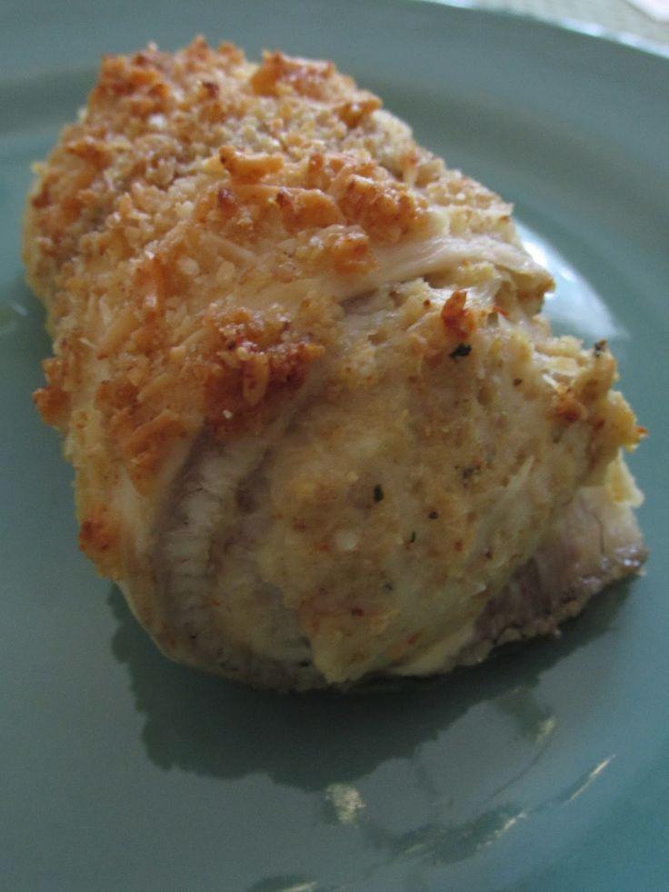 crab stuffed tilapia twice around the pan fish