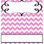 Free Chevron Binder Cover Pink and White