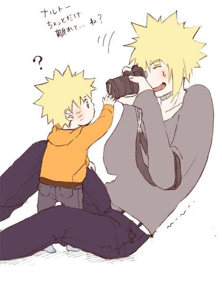 Awww... Naruto and Minato