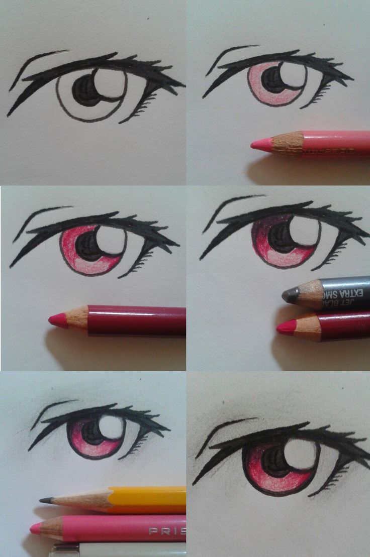 I made somewhat crappy eye tutorial, i hope it can help a little bit