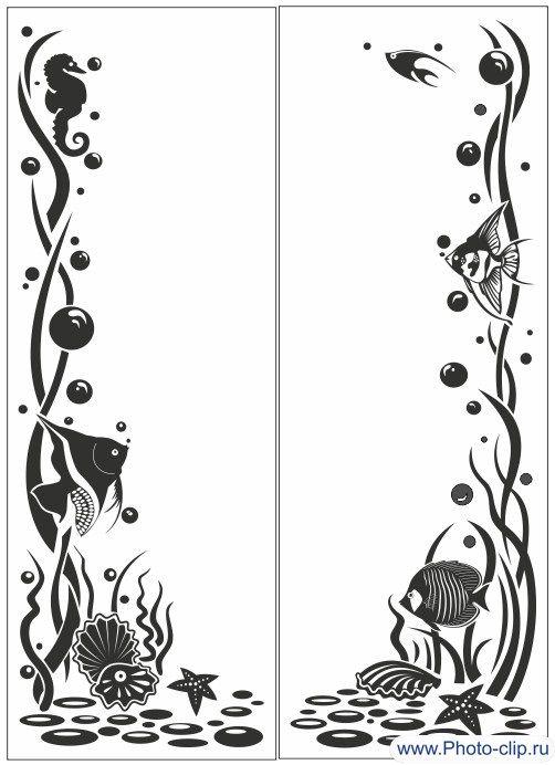 Пескоструйный рисунок Рыбки №67
