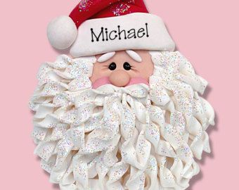 Nouveau polymère argile barbe Swirly Santa par michellesclaybeads