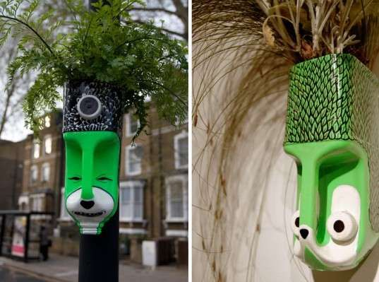 Milk Jug Gardening - Anna Garforth is Head Gardener of Greenery Filled Tribal Masks (GALLERY)