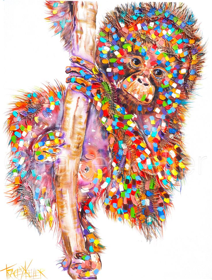 Jaffa orangutan monkey painting tracey keller