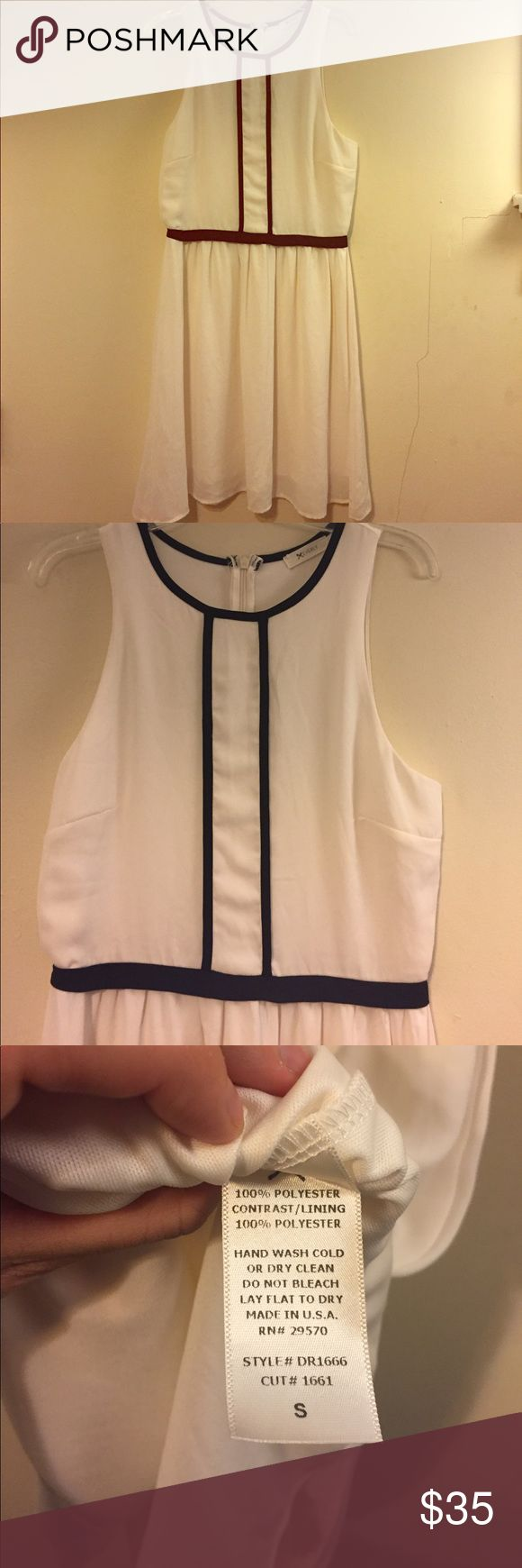 Cream and Black Trim Everly Dress Size Small Cream and Black Trim Everly Dress Size Small. In great condition. Super cute for all different occasions. Everly Dresses