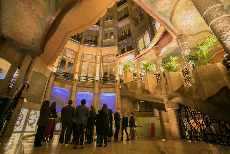 Dinner and tour at La Pedrera 01.03.2017 #mwc17 #events #barcelona