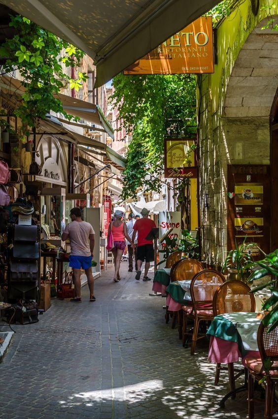 Shopping in Corfu, Greece