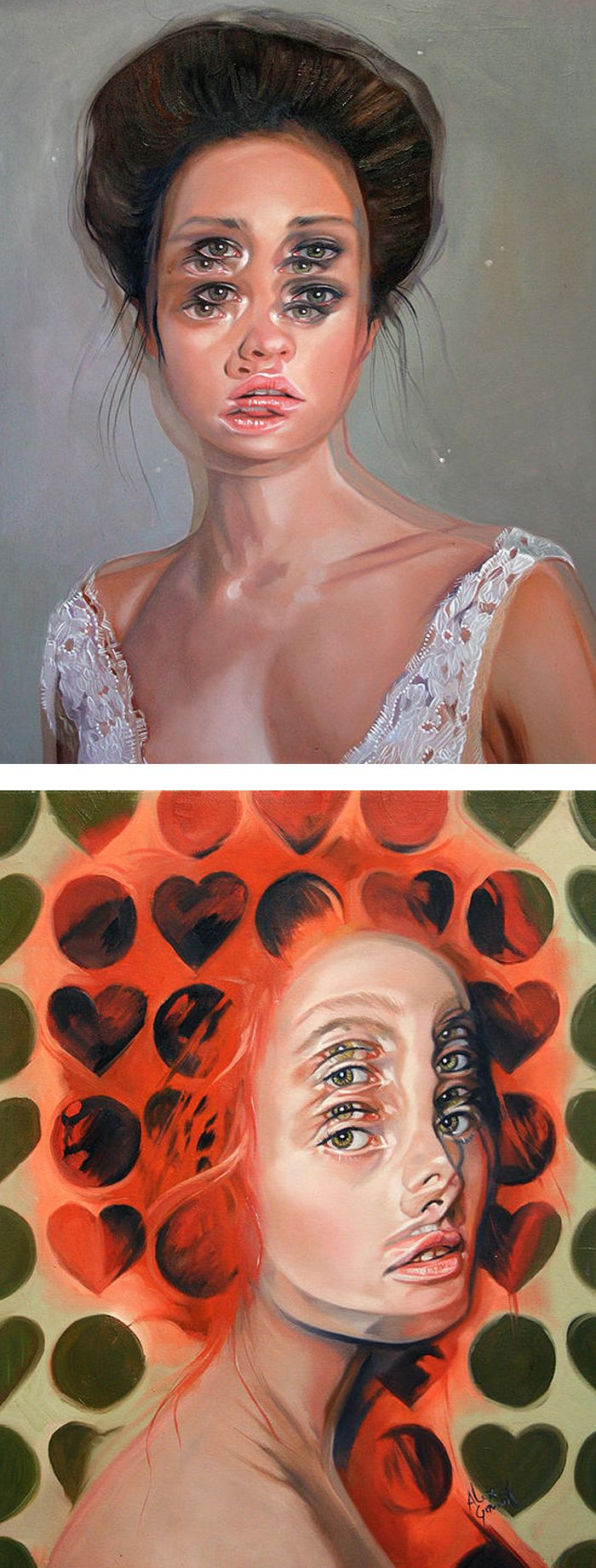 Portraits of women in double vision | surreal painting | modern painting | painted ladies | contemporary art