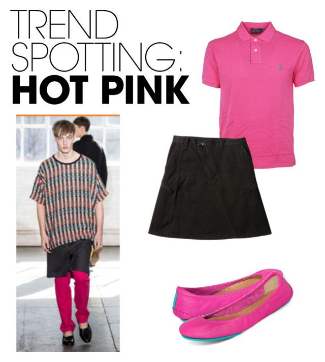 """""""Hot Pink Unisex Trend"""" by brennk ❤ liked on Polyvore featuring Tieks, Ralph Lauren, men's fashion, menswear, contestentry and NYFWHotPink"""