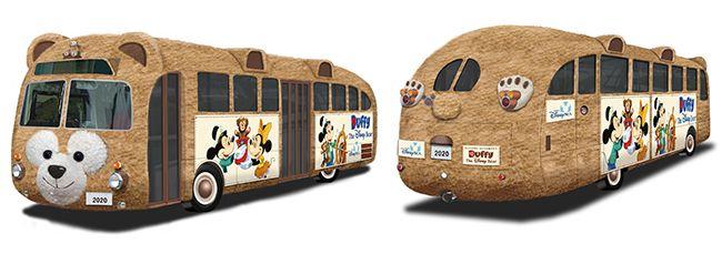 【広報リリース】東京ディズニーシー:ぬいぐるみ生地によるラッピングバス「ダッフィーバス」が誕生 - Special Duffy tour buses in Japan!