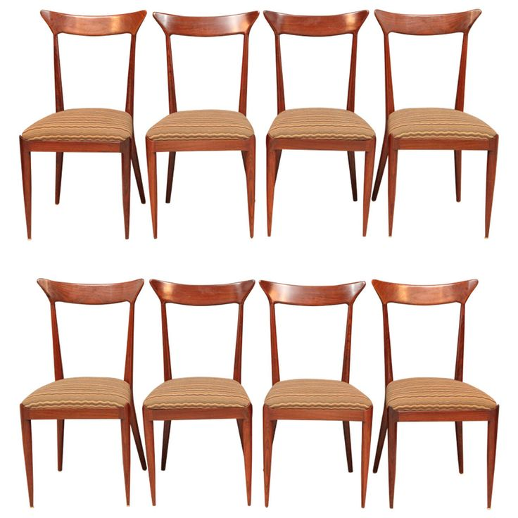 Set Of Eight Italian Dining Chairs By Ico Parisi Modern Room