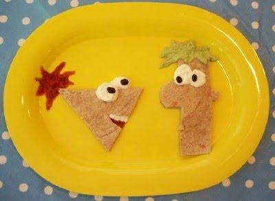 fun food for kidsLunches Snacks, Kidsfood, Food Ideas, Ferb Fiestas, Creative Food, Kiddie Food, Ferb Quesadillas, Kids Fun Food, Kids Food